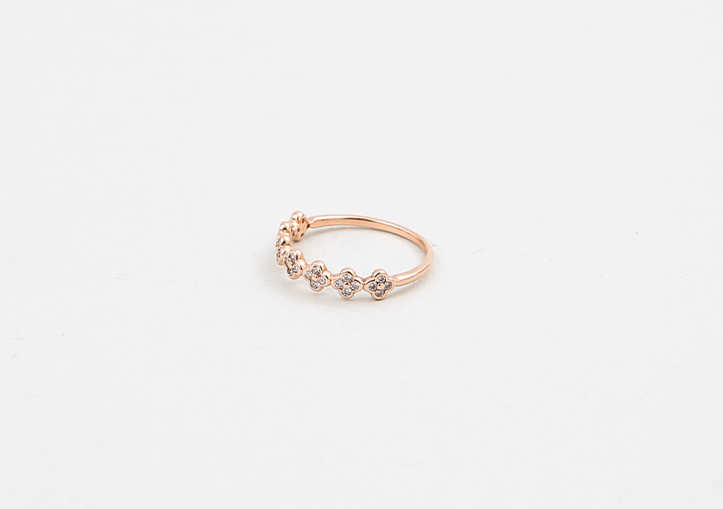 좋은옷 만드는 럭스위즈닷컴HN71AC_226  Skinny Deco diamond, clover & gold color ring